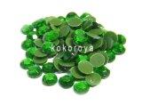 ガラス製ラインストーン ダイヤカット型 グリーン