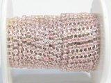 シルバーチェーン・ライトピンク石 各サイズ10cm