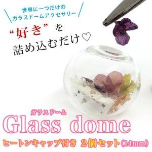 画像1: ガラスドーム 球型(6・8・10・14・16・20mm)キャップ付き 2個入 1〜6