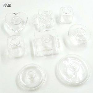 画像4: ガラスドーム 変形型(ハート・スター)四角柱型(13・14・20mm)半球型(20mm)円柱型(21・27mm)各種2個入 17〜24