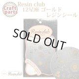 【レジンクラブ】R6 12星座 ゴールド レジンシール RC-ZDC-102 31705