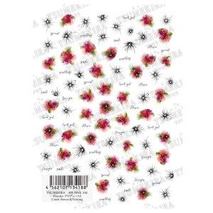 画像2: 【ツメキラ25%OFF】T04 Hanako プロデュース2 Crash flower&Veining ネイルシール NN-HNK-102 34188