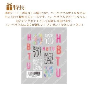 画像2: 【ハーバリウムクラブ】h10 バースデイメッセージ HR-BDM-101 80202
