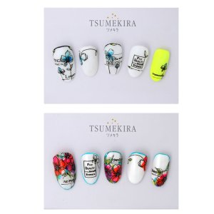 画像2: 【ツメキラ25%OFF】T71 JUNXプロデュース1 Single Flower ネイルシール NN-JUX-101 80851