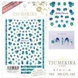 【ツメキラ25%OFF】T64 Color Flower blue ネイルシール NN-CFL-102 80684