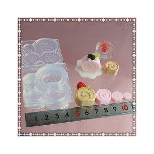 画像2: 【10%OFF 】A047 アートギャラリーフローレ ソフトモールド Lovely Sweets C-553 ロールケーキ(小)