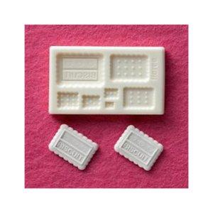 画像2: 【10%OFF 】A085 アートギャラリーフローレ 粘土専用型 ミニ型抜き G-030 ビスケット(角)