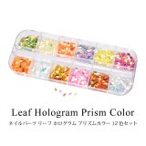 ネイル パーツ リーフ ホログラム プリズム カラー 12色セット