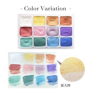 画像2: ネイル 水彩 パレット 12色セット