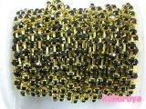 アクリル製ダイヤチェーン ゴールド台座 ブラック石 10cm
