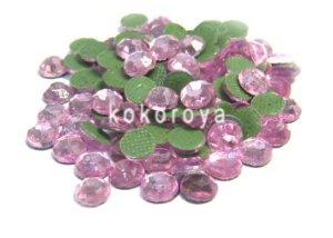 画像1: ガラス製ラインストーン ダイヤカット型 ライトピンク