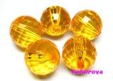 アクリル製ビーズ オレンジ 5個 20mm