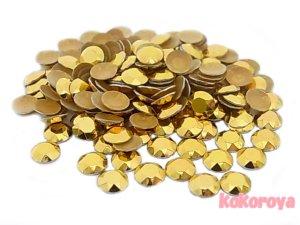 画像1: 韓国製アルミスタッズ ダイヤカット型 ゴールド
