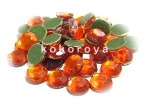 画像1: ガラス製ラインストーン ダイヤカット型 オレンジ