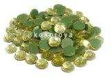 ガラス製ラインストーン ダイヤカット型 シャンパンゴールド