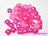パールスクエアドーム型 ピンク  約100個 4mm