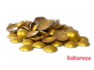 画像1: 韓国製アルミスタッズ マルポコ型 マッドゴールド